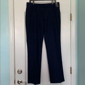 Navy blue straight leg pants